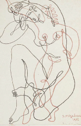 JEAN NEGULESCO SIGNED DRAWING