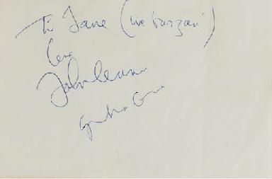 JOHN LENNON AND YOKO ONO SIGNA