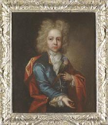 Portrait of a young boy, half-