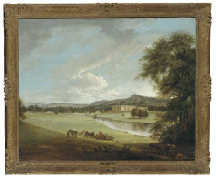 View of Chatsworth House from