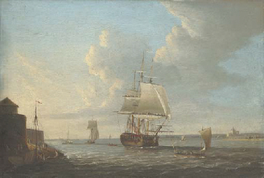 View of Portsmouth Harbour wit