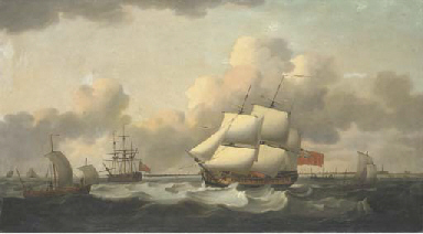 A Royal Navy frigate and other