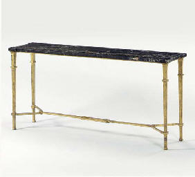 A GILT-BRONZE CONSOLE TABLE