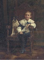 Portrait of a boy, seated full