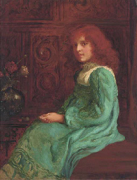Portrait of a seated girl, thr