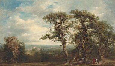 Kenilworth Castle from Woodhal