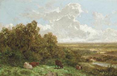 Cattle grazing in a landscape