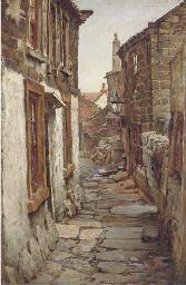 A cobbled street