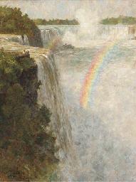 A rainbow over Niagra Falls