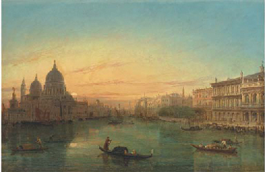 Gondolas on the Grand Canal at