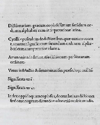 CRASTONUS, Johannes. Lexicon G