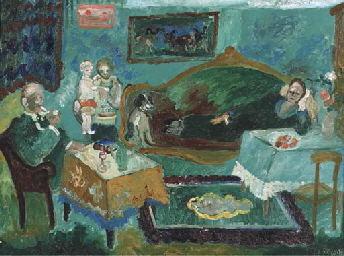 Family in an interior