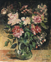 A still life with pink roses i