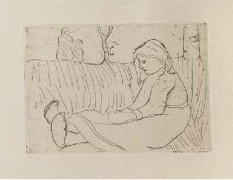 Sitzendes Kind (Werner 9)
