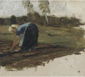 Woman at work in the field