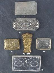 A Dutch Silver Tobacco Box