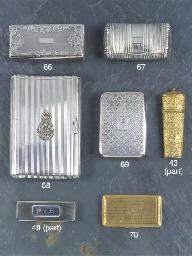 A George III silver snuffbox