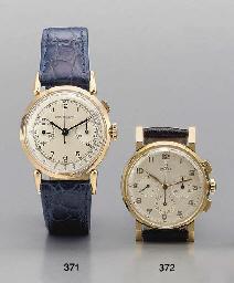Omega. An 18K pink gold chrono