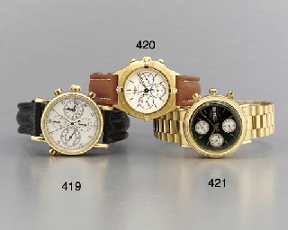 Breitling. An 18K gold and dia