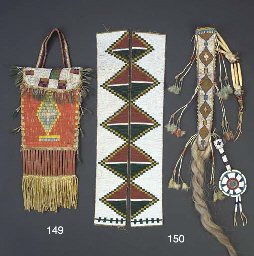 A SIOUX BEADED AND QUILLED HID