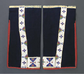A PAIR OF SIOUX MAN'S BEADED W