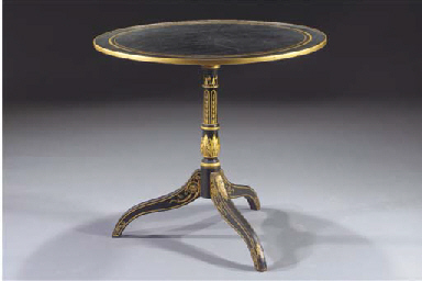 An English black and gilt japa