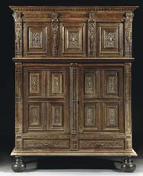 A Flemish oak cupboard