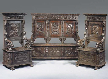 (3)  An Italian stained pine s