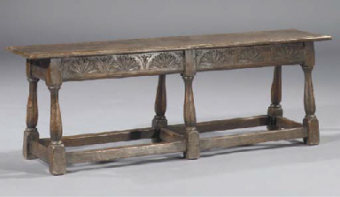 An English oak bench