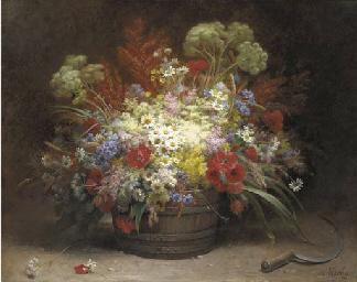 A bouquet of field flowers in