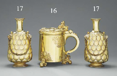 A large Victorian silver-gilt