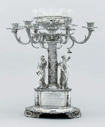 A William IV silver candelabru