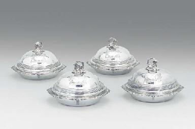A set of four George III silve