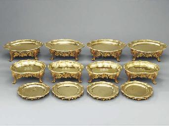 A George III silver-gilt desse