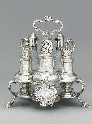 A George II silver cruet