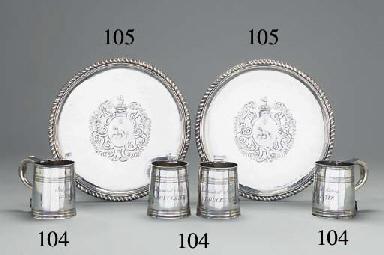 Two Queen Anne silver tazze