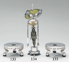 A pair of French silver dish-s