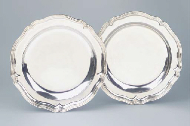 A PAIR OF GERMAN SILVER CHARGE
