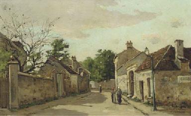 Gossips on a village street