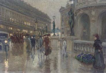 Avenue de l'Opéra at dusk, Par