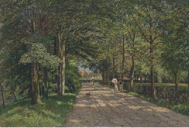 A stroll along a sunlit avenue