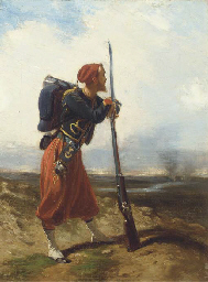 A rifleman of the 4th Zouave R