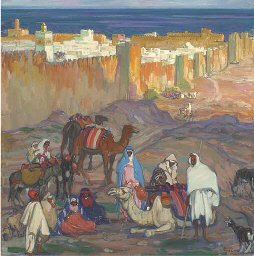 A camel train outside Sousse