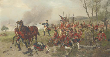 George II at the Battle of Det
