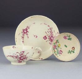 An English creamware teacup an