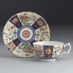 A Worcester 'Japan' pattern fl