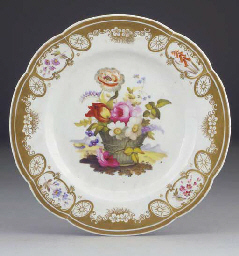 An English porcelain plate and