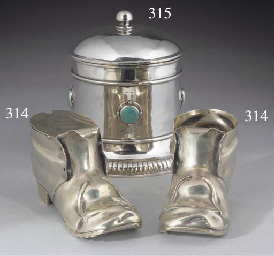 Two Silver-Plated Novelty Cond