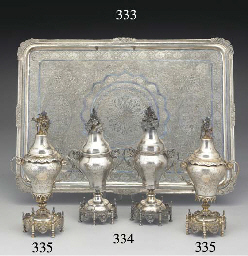 Two Turkish Parcel-Gilt Silver