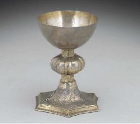 A Continental Silver-Gilt chal